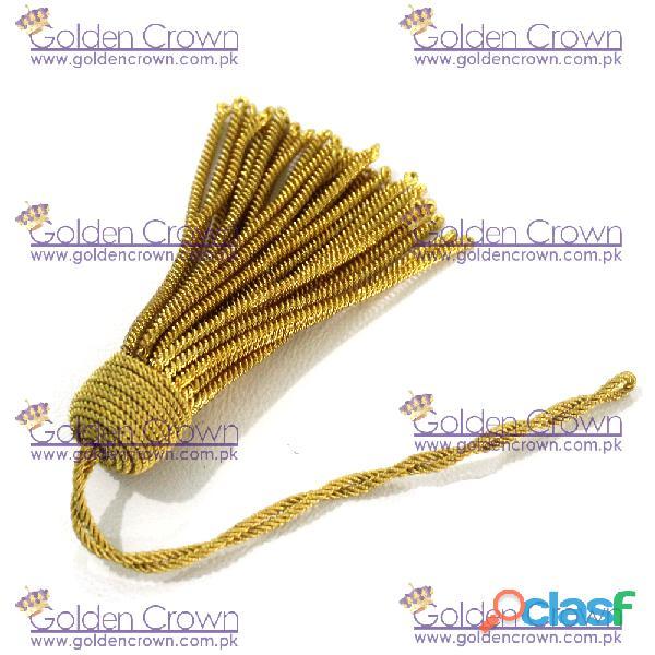 French Gold Bullion Wire Tassel Handmade 2