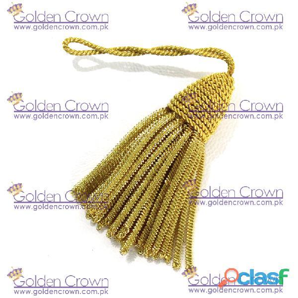 Vintage gold bullion metallic tassel