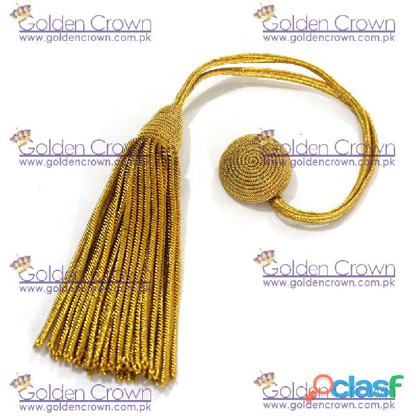 Gold honour cap bullion tassel