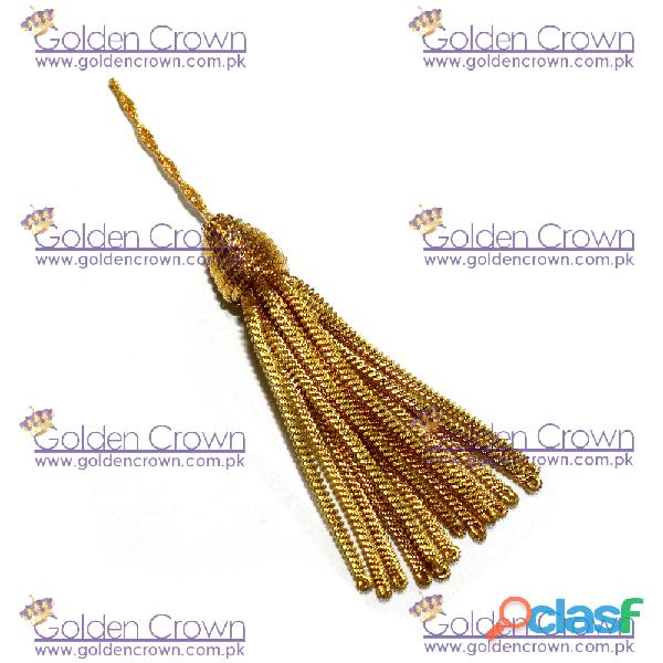 Gold bullion pillow tassel mini gold bullion french decorative tassel
