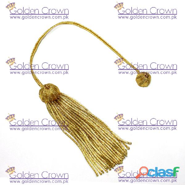 Gold bullion tassel for bulk wholesale doctoral tam graduation cap tassel