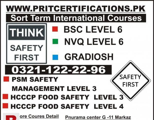 Qc nvq level 6 safety officer food safety course in uae ksa