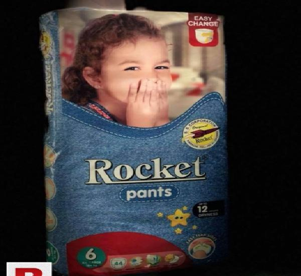 Rocket Premium Diapers, Pants and Wipes