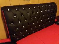 Brand New Diamond Style Leather Sofa Set Red&Black Color