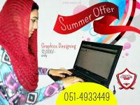 Graphics designing professional course summer package,