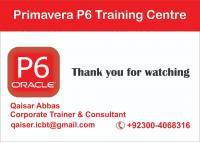 Primavera P6 Professional R18.8 Training In Lahore