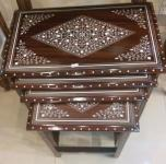 Wooden Nest Set Tables (Four Pieces), Chiniot