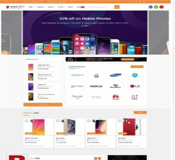 Design ecommerce website online store with android