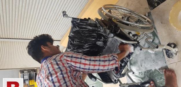 Power wheelchair repair