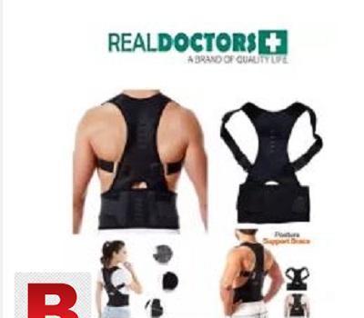 Real doctors back posture support magnetic belt brace