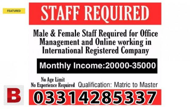 Full time, part time, home based online job vacancies