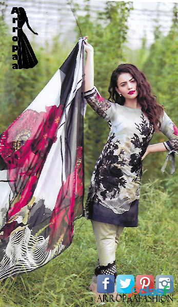 Black rose aen linen dress in karachi