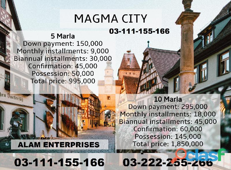 Magma City Islamabad 5 marla plot for sale on installments 5