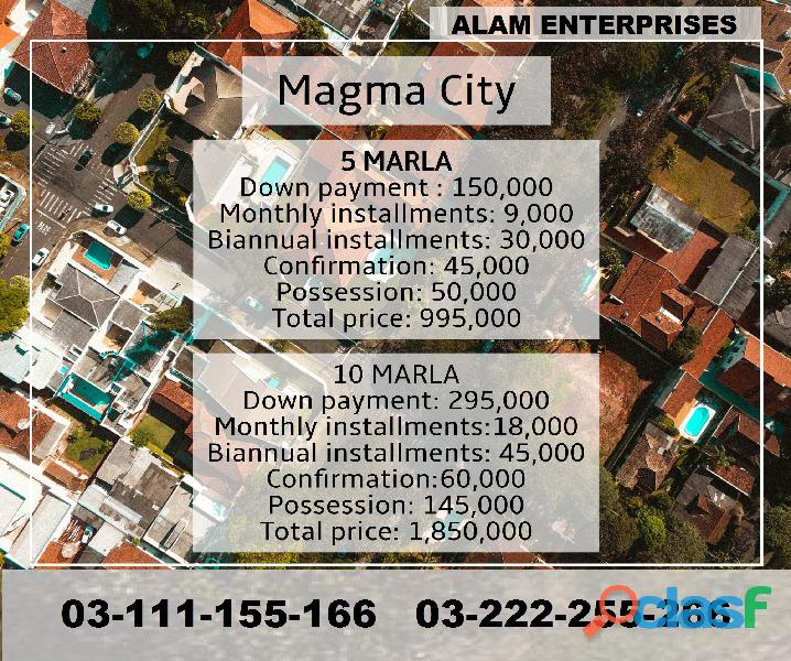 Magma City Islamabad 5 marla plot for sale on installments 3