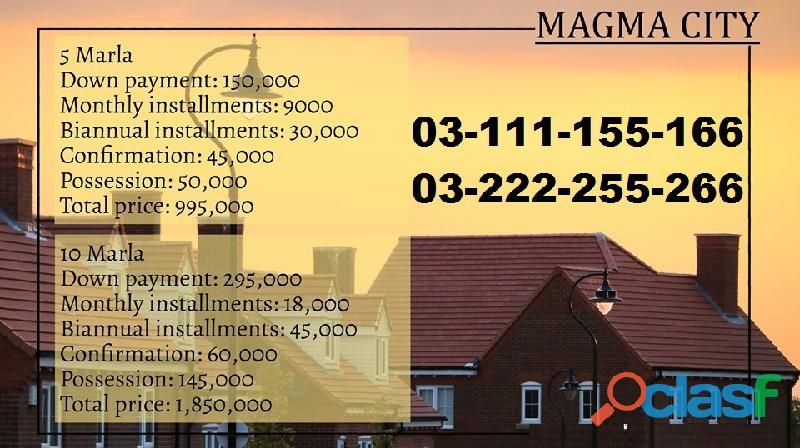 Magma City Islamabad 5 marla plot for sale on installments 1