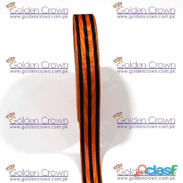 Medal Ribbon Orange And Black 2