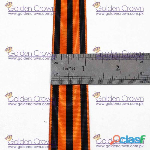 Medal Ribbon Orange And Black 3