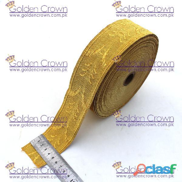Gold mylar oak leaf lace
