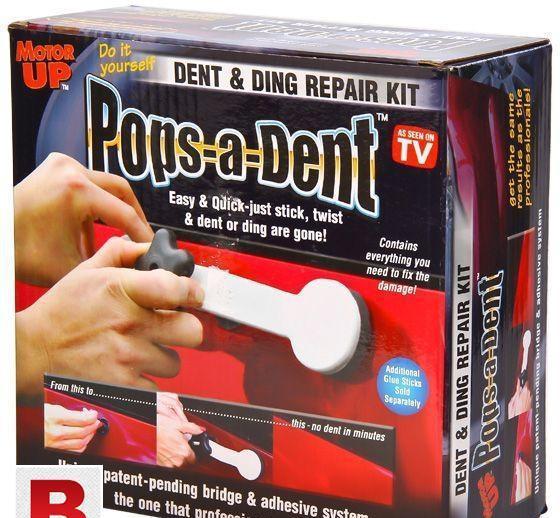 Pops a dent car dent remover kit.