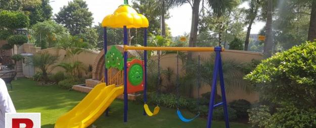 Slide unit with swing set