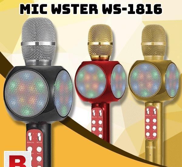Ws-1816 wireless bluetooth karaoke microphone mic usb