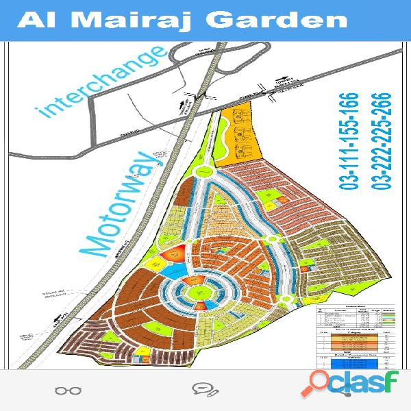 Al Mairaj garden 4 Marla Commercial plot for sale on installments