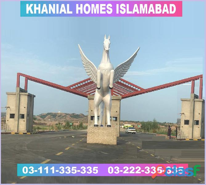 Khanial Homes Islamabad 5 8 10 marla plot for sale near new Airport on installments 1