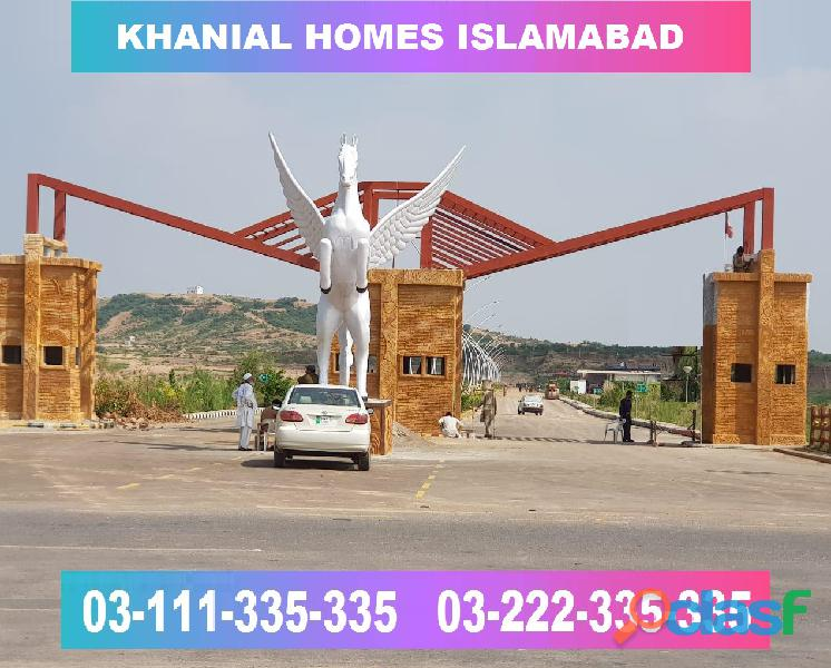 Khanial Homes Islamabad 5 8 10 marla plot for sale near new Airport on installments 8