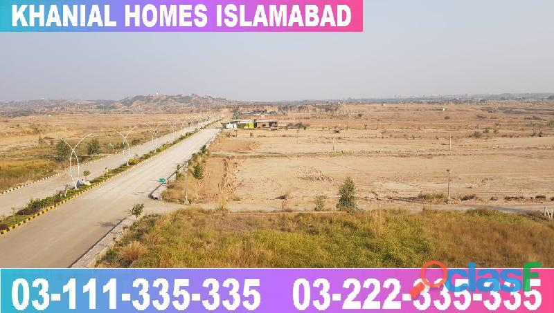 Khanial Homes Islamabad 5 8 10 marla plot for sale near new Airport on installments 9