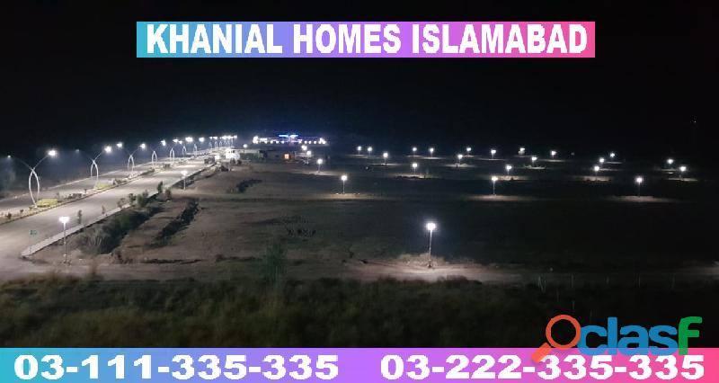 Khanial Homes Islamabad 5 8 10 marla plot for sale near new Airport on installments 10