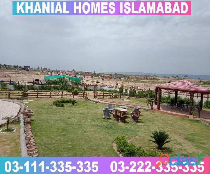 Khanial Homes Islamabad 5 8 10 marla plot for sale near new Airport on installments 12
