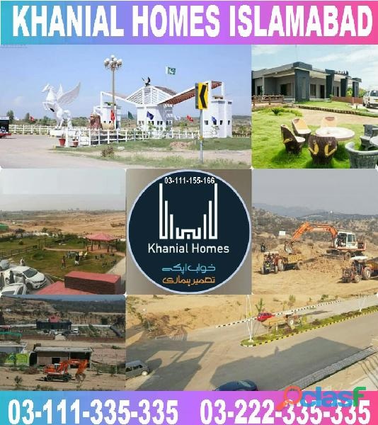 Khanial Homes Islamabad 5 8 10 marla plot for sale near new Airport on installments 15