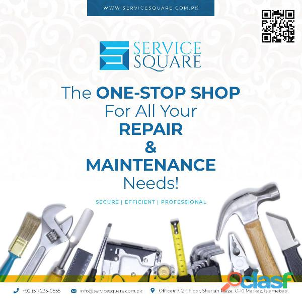 Maintenance & repair | handyman services | service square | islamabad