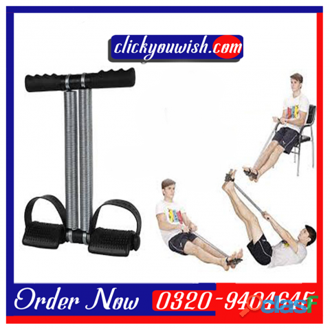 Tummy trimmer single spring   black & silver