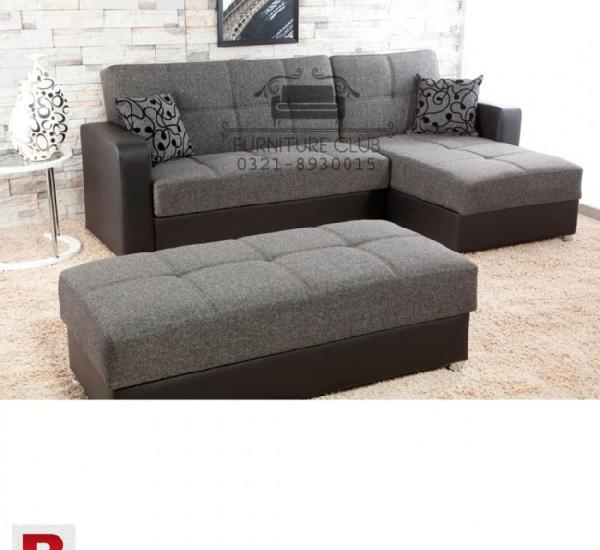 Brand new sofa set 4 seaters corner with puffy in master
