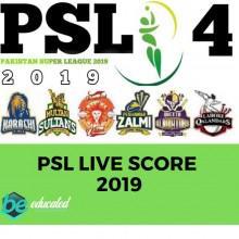 Psl live score   psl 4 live score