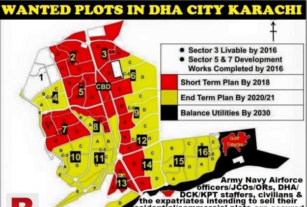 WANTED DHA City Plots in Sec