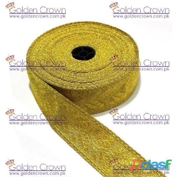 Gold mylar lace oak leaf, gold mylar oak leaf lace supplier