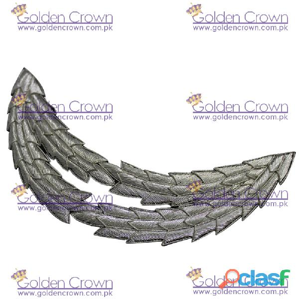 Embroidery peak supplier, plated oak leaf tow row peak
