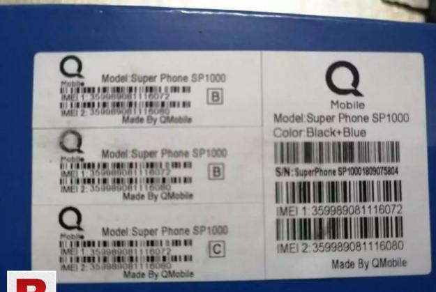 Qmobile sp1000 button phone pta approved with complete box