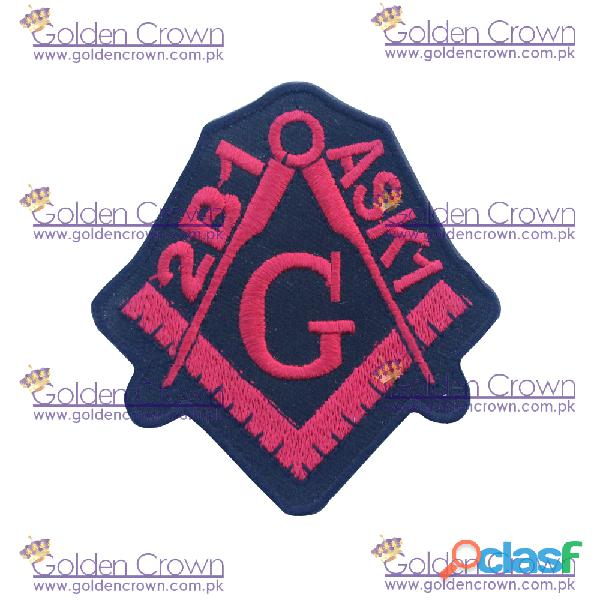 Masonic 2B1ASK1 Square Compass Embroidered Patch