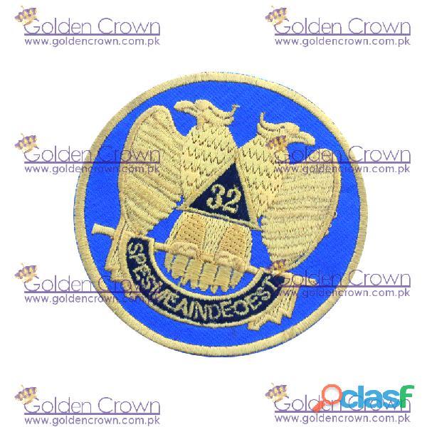 Masonic machine embroidered patch 32nd degree