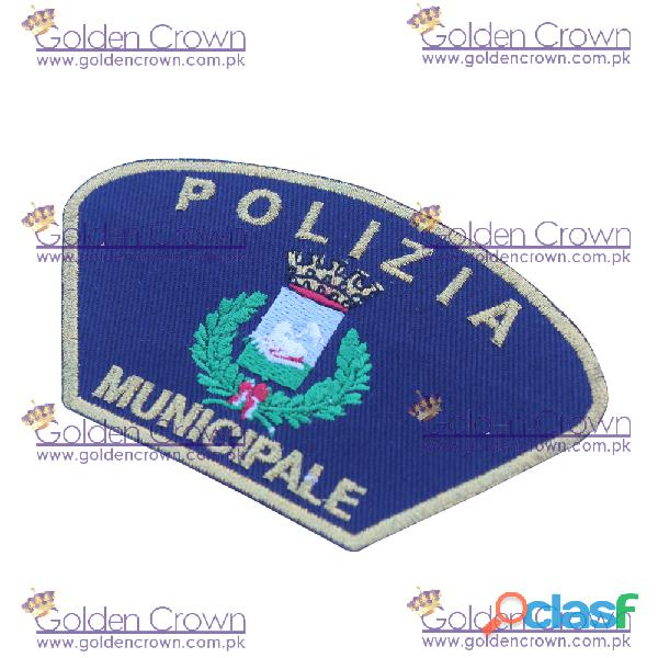 Woven police cloth badges