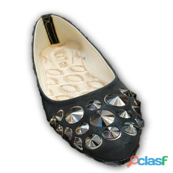 Black colour design ballet flat shoe formal & casual shoe for girls