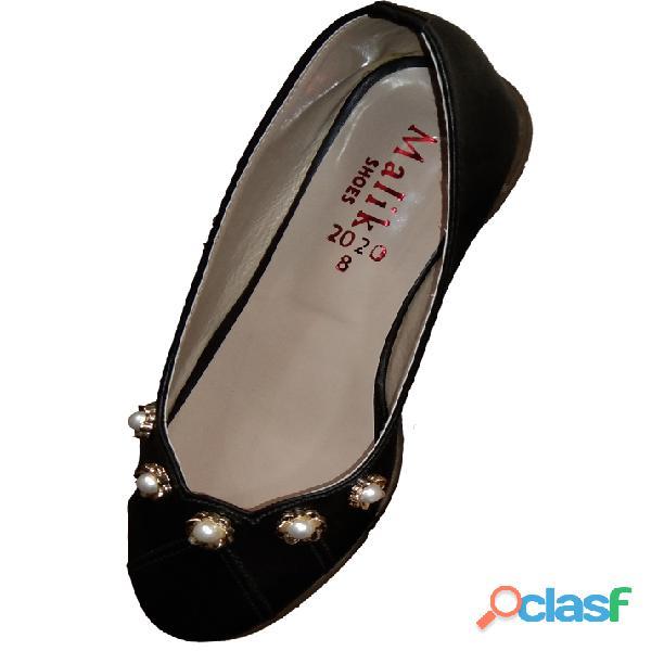 Black khussa ballet flat formal & casual shoe for women