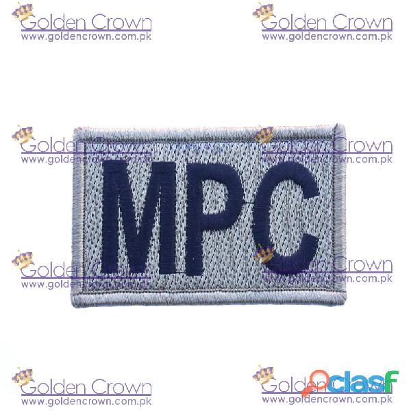 Machine embroidery badge