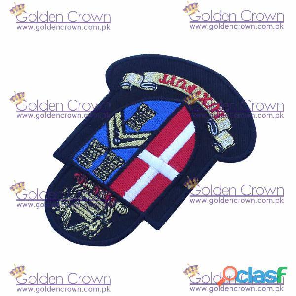 Machine embroidery badge.