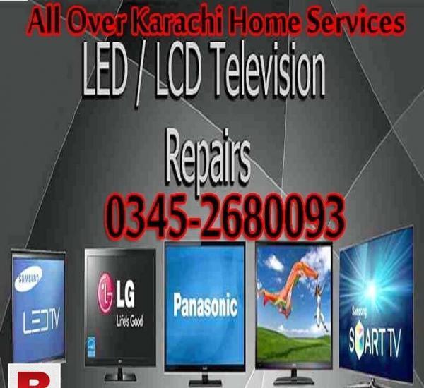 Led lcd 3d tv repair / home services karachi 03452680093