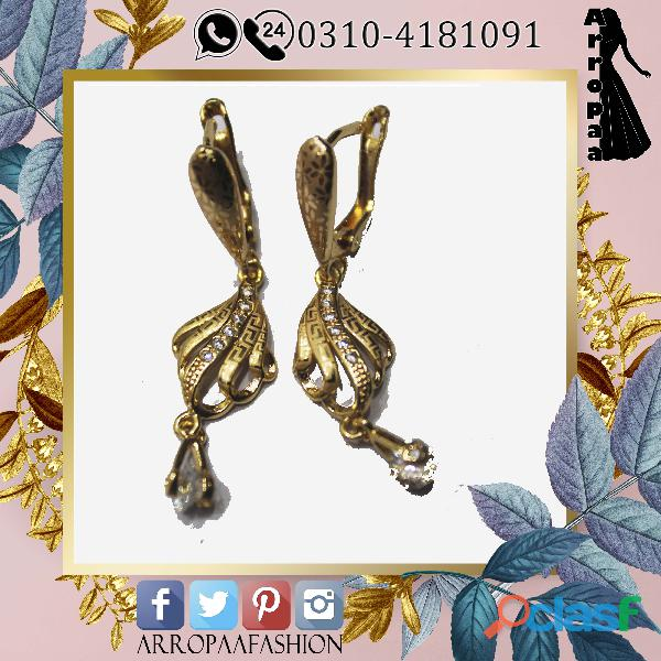 Gold earrings for girls indian style high quality metal