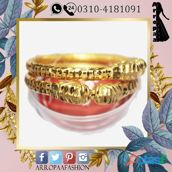 Set of 2   24k gold plated bangles for women indian style